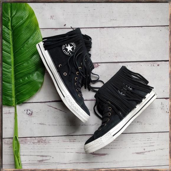 bdd0d31f2cc95a Converse Shoes - CONVERSE Chuck Taylor Hi Shearling Fringe Shoes